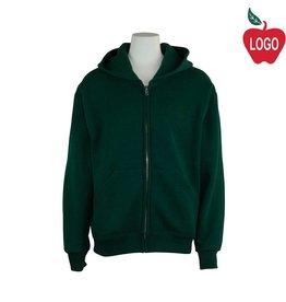 Soffe Green Zip Hood Sweatshirt #9078