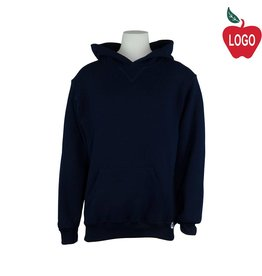 Russell Navy Blue Hooded Pullover Sweatshirt #995 - Youth Medium