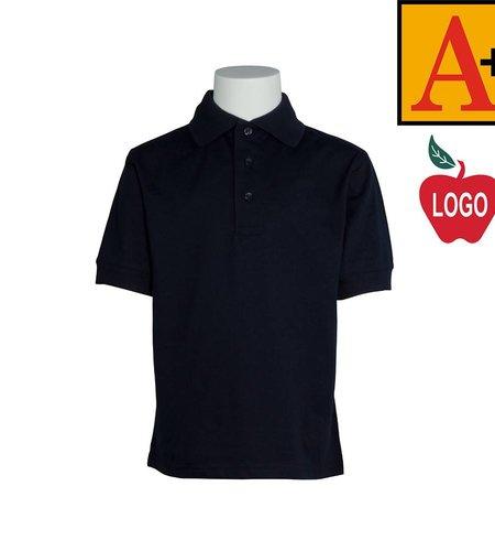 School Apparel A+ Dark Navy Short Sleeve Jersey Polo #8320