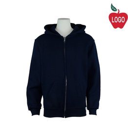 Russell Youth Large Navy Blue Zip Hooded Sweatshirt #997