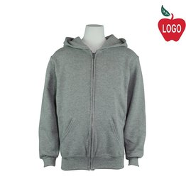 Russell Adult Large Oxford Grey Zip Hooded Sweatshirt #997