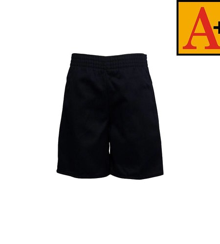 School Apparel A+ Navy Blue Pull-on Walk Shorts #7067Y