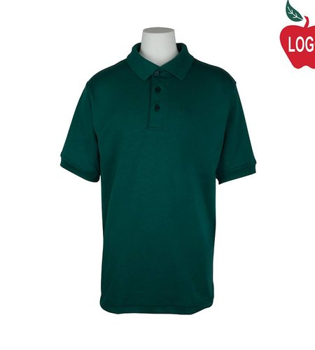 Elder Green Short Sleeve Interlock Polo #5771