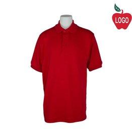 Elder Red Short Sleeve Interlock Polo #5771