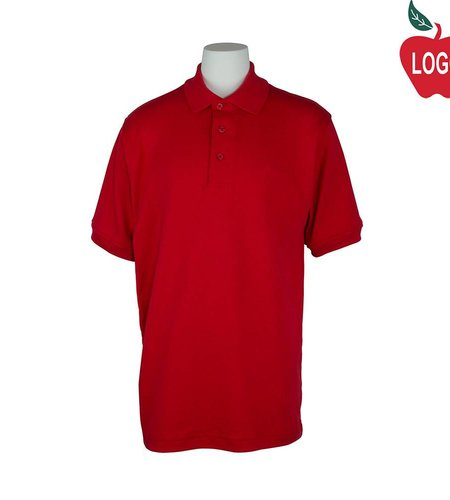 Elder Red Short Sleeve Interlock Polo #5771