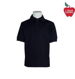 Elder Youth Large Navy Blue Short Sleeve Interlock Polo #5771