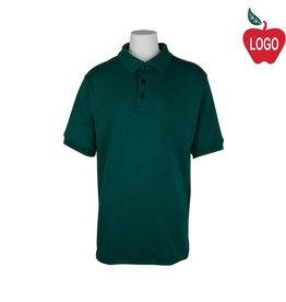 Elder Youth Medium Green Short Sleeve Interlock Polo #5771