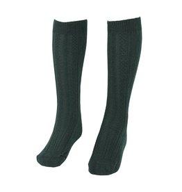 School Apparel A+ Green Cable Knit Knee Socks #125