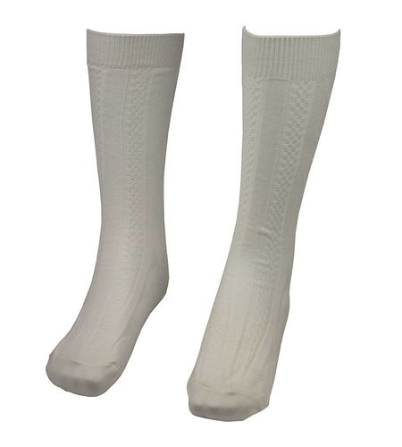 School Apparel A+ White Cable Knit Knee Socks #125