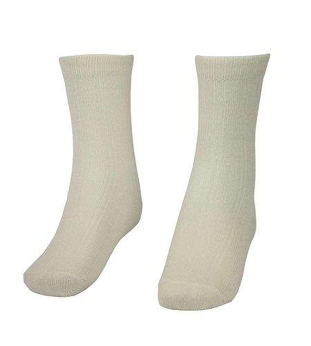 School Apparel A+ White Bamboo Crew Socks
