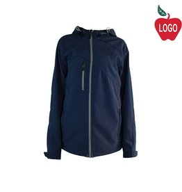 North End Navy Blue Hooded Soft-shell Jacket #88166
