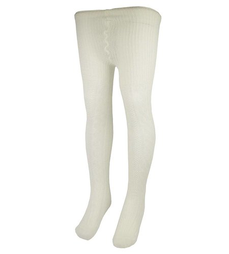 School Apparel A+ White Cable Knit Tights #400