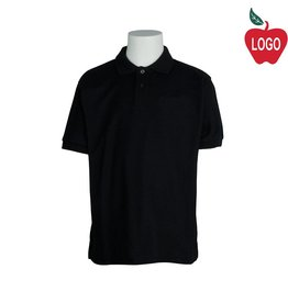 Port Authority Black Short Sleeve Pique Polo #500