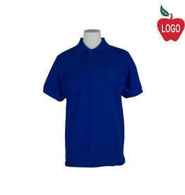 Tulane Royal Blue Short Sleeve Pique Polo #U838