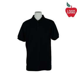 Universal Black Short Sleeve Pique Polo #U838