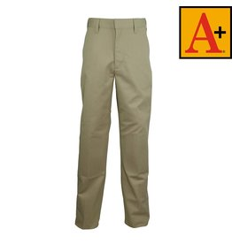 School Apparel A+ Khaki Plain Front Pants #7064