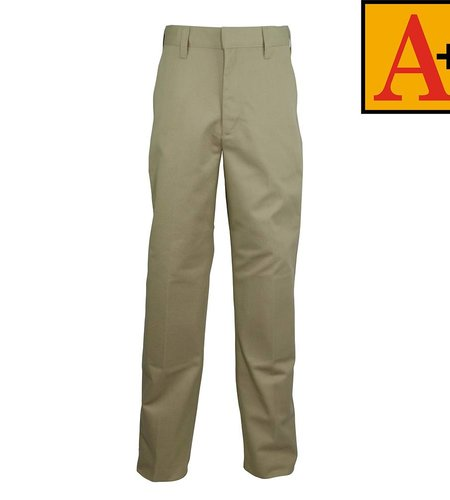 School Apparel A+ Khaki Plain Front Pants #7064