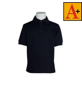 School Apparel A+ Navy Blue Short Sleeve Jersey Polo #8320