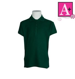 School Apparel A+ Green Short Sleeve Pique Polo #9715