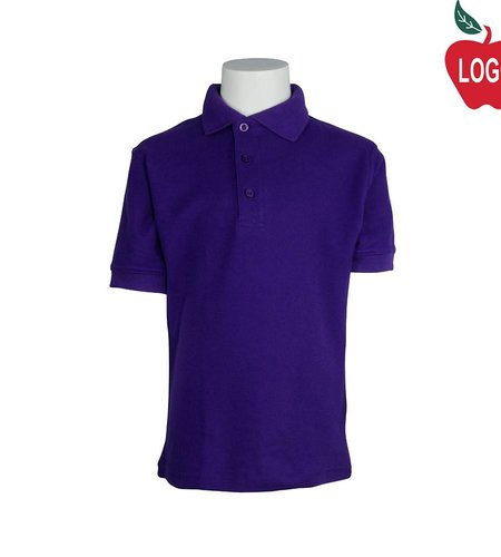 Tulane Purple Short Sleeve Pique Polo #8747