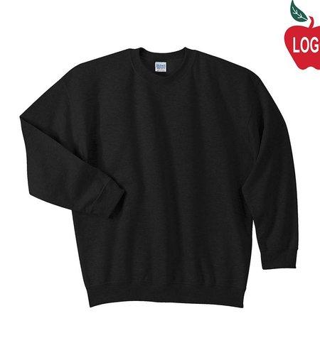 Gildan Black Crew-neck Sweatshirt #18000
