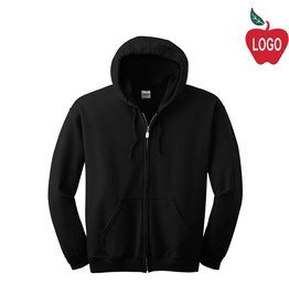 Gildan Black Full Zip Hood Sweatshirt #18600