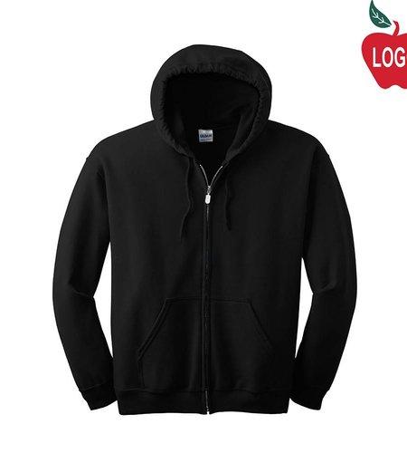Gildan Black Full Zip Hood Sweatshirt #18600