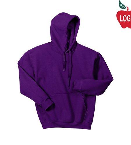 Gildan Purple Pullover Hood Sweatshirt #18500
