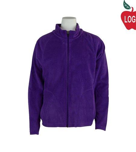 Team 365 Purple Full Zip Fleece Jacket #TT90