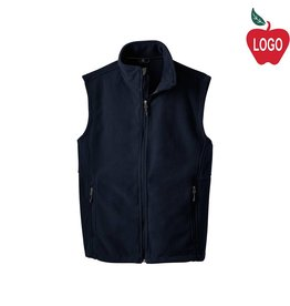 Port Authority Navy Blue Full Zip Fleece Vest #219