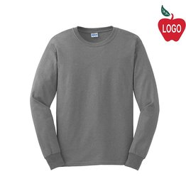 Gildan Oxford Grey Long Sleeve Tee #2400