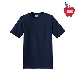 Hanes Navy Blue Short Sleeve Tee #5370