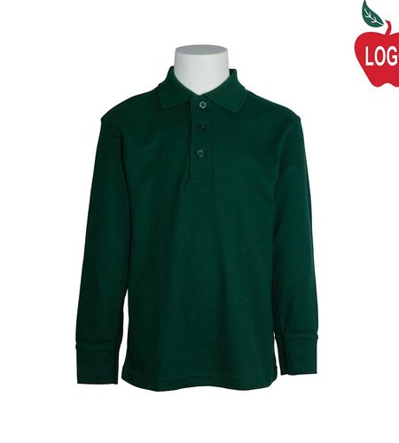 Tulane Green Long Sleeve Pique Polo #8748