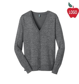 District Threads Warm Grey Mens Cardigan Sweater #DM315