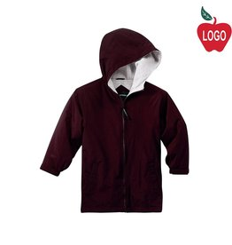 Port Authority Wine Hooded Nylon Jacket #JP56
