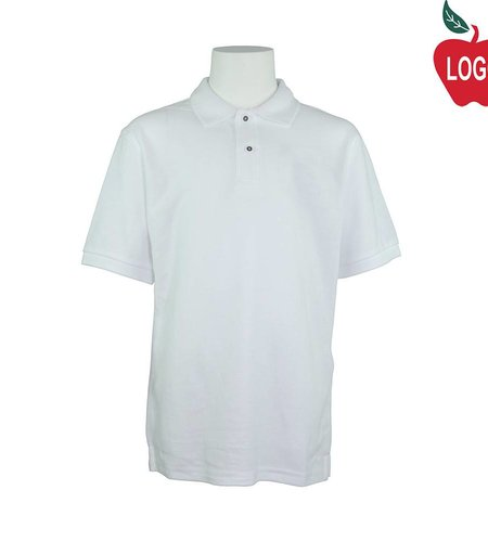 Port Authority Mens White Short Sleeve Pique Polo #K500