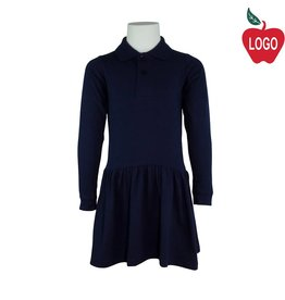 Rifle Navy Blue Long Sleeve Knit Dress #K385B