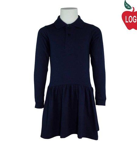 Rifle Youth XX-Small Navy Blue Long Sleeve Knit Dress #K385B