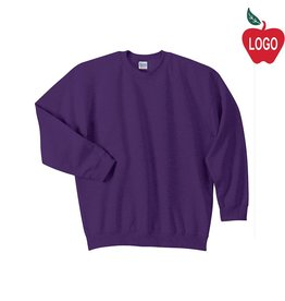 Jerzees Purple Crew-neck Sweatshirt #PC90Y/18000