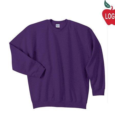 Jerzees Purple Crew-neck Sweatshirt #PC90Y/18000