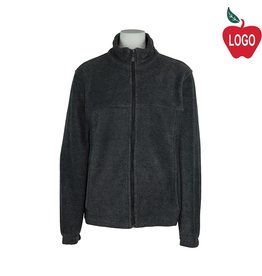 Harriton Charcoal Grey Fleece Jacket