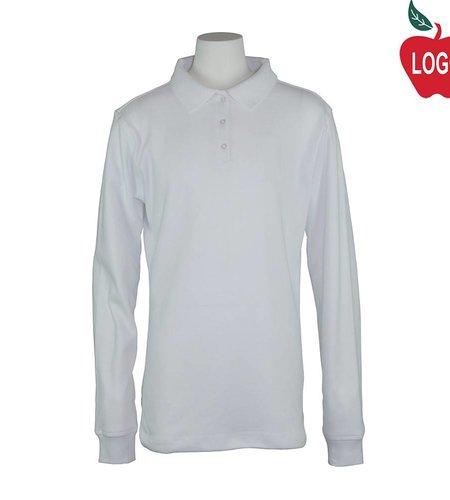 Elder Uniform White Long Sleeve Polo #7671