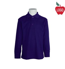 Tulane Purple Long Sleeve Pique Polo #8748