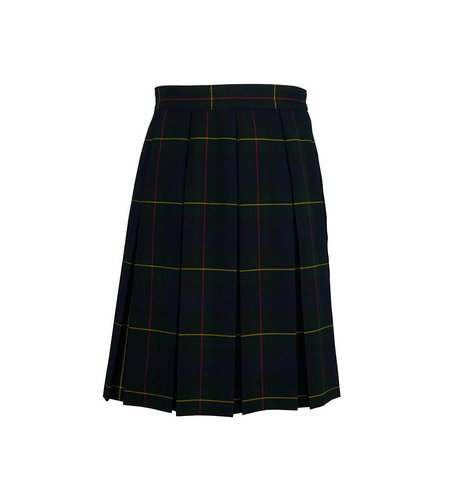 Dennis Uniform Belair Plaid Box Pleat Skirt #1890