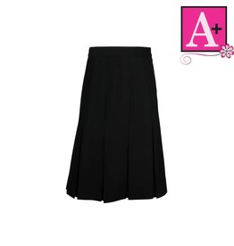 School Apparel A+ Black Twill Box Pleat Skirt #1943BT