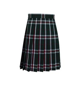 Dennis Uniform Sequoia Plaid Knife Pleat Skirt #1886