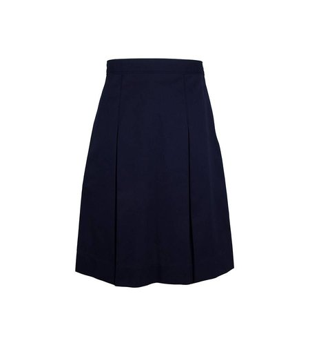Elder Navy Blue 4-pleat Skirt #3950
