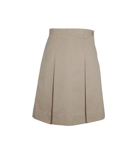 Elder Khaki 4-pleat Skirt #3950