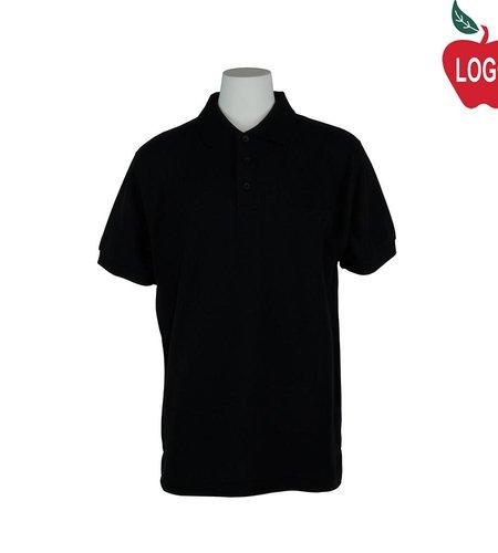 Universal Black Short Sleeve Pique Polo #U838