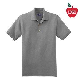 School Apparel A+ Sport Grey Short Sleeve Polo #8761